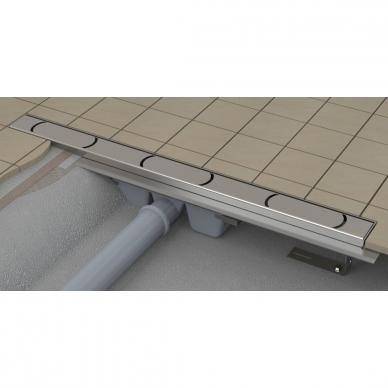 Ravak nerūdijančio plieno dušo latakas Chrome 750mm 3