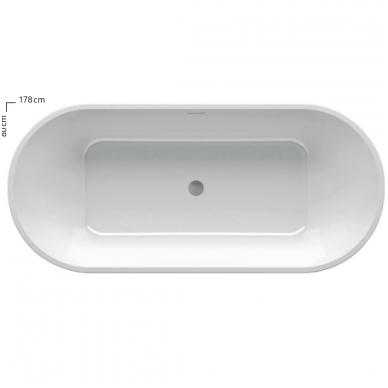 Akrilinė laisvai statoma vonia Ravak Solo 1780x800mm 2
