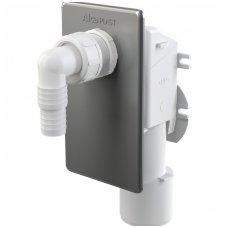 Alca Plast potinkinis sifonas skalbimo mašinai, chromuotas APS3