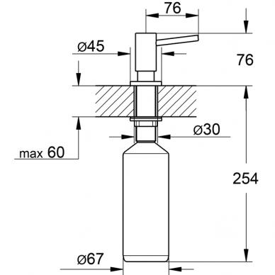 Grohe dozatorius muilui 400 ml. 2