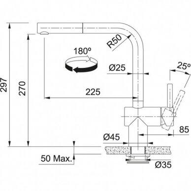 Franke sensorinis maišytuvas virtuvei Atlas Neo Sensor, juodos spalvos 2