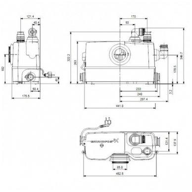 Grundfos nuotekų perpompavimo stotelė Sololift2 WC-3 3