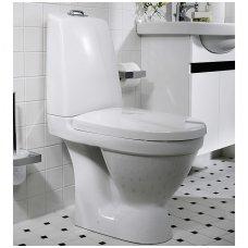 Gustavsberg Nautic pastatomas unitazas su Hygienic Flush funkcija ir lėtai nusileidžiančiu dangčiu