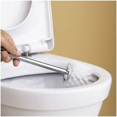 Gustavsberg Nautic pastatomas unitazas su Hygienic Flush funkcija ir lėtai nusileidžiančiu dangčiu 2