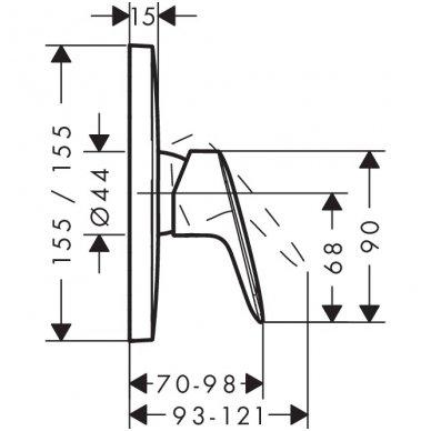 Hansgrohe dušo maišytuvo virštinkinė dalis Logis 2