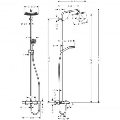 Hansgrohe dušo sistema Crometta S 240 1jet 27320000 4