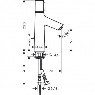Hansgrohe maišytuvas praustuvui Talis Select S 100 3