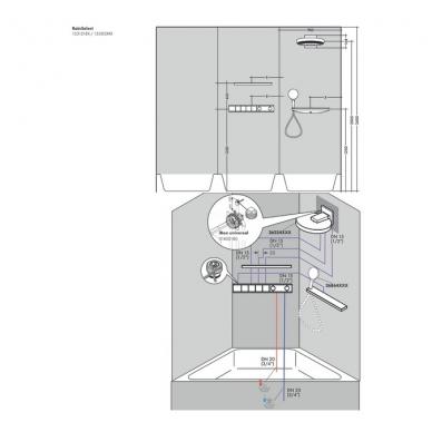 Hansgrohe virštinkinė dalis RainSelect 4-jų fukcijų 15382700 3