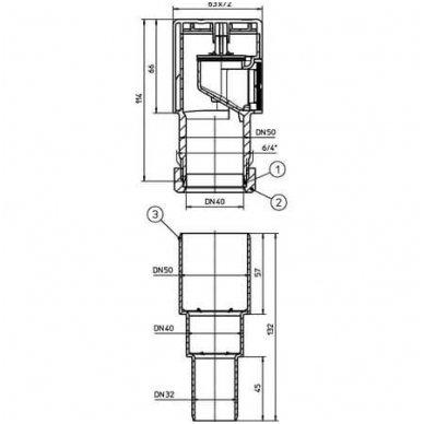 HL alsuoklis kanalizacijai Dn32/40/50 2