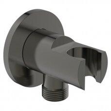 Ideal Standard jungtis su laikikliu BC807A5, juodos spalvos