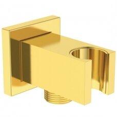 Ideal Standard sieninis dušo laikiklis su išvadu BC771A2, aukso spalvos