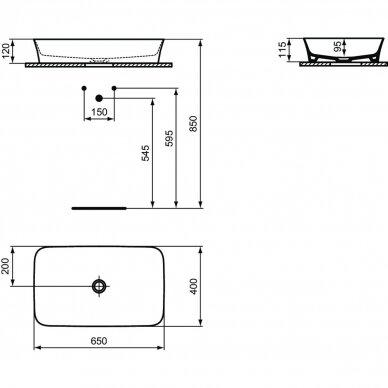 Ideal Standard praustuvas-dubuo Ipalyss 650x400mm E1886V3 3