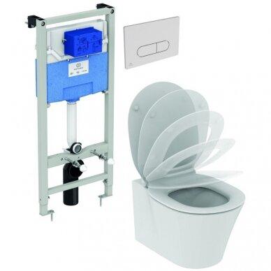 Ideal Standard WC rėmas ir Connect Air pakabinamas klozetas su Soft Close dangčiu