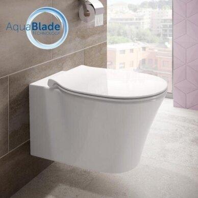 Ideal Standard WC rėmas ir Connect Air pakabinamas klozetas su Soft Close dangčiu 5