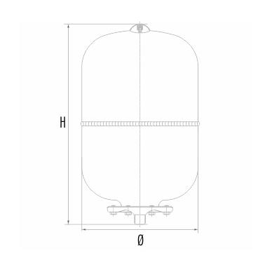 Išsiplėtimo indas vandentiekio sistemai Aquasystem AR18+ 2