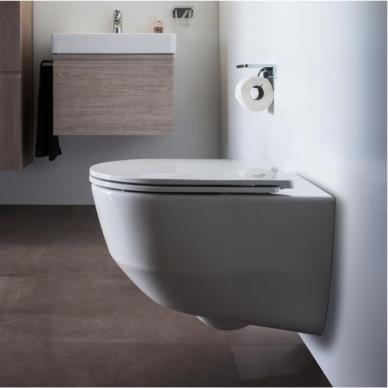 Laufen WC rėmas ir Pro New Rimless pakabinamas klozetas su lėtai nusileidžiančiu plonu dangčiu 2
