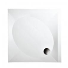 PAA akmens masės dušo padėklas ART KV 100x100 + panelis ir kojos