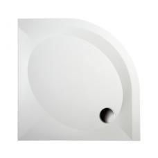 PAA akmens masės dušo padėklas ART RO 80x80 + panelis ir kojos