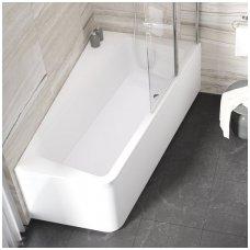 Ravak asimetrinė akrilinė vonia 10° 170x100cm
