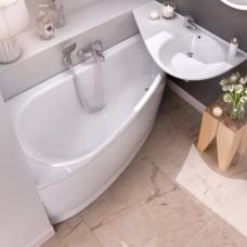 Ravak asimetrinė akrilinė vonia Avocado 150x75cm