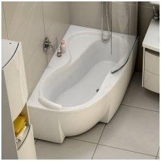 Ravak asimetrinė akrilinė vonia Rosa 95 160x95cm