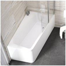 Ravak asimetrinė akrilinė vonia 10° 160x95cm