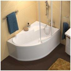 Ravak asimetrinė akrilinė vonia Rosa I 140x105cm