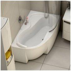 Ravak asimetrinė akrilinė vonia Rosa 95 150x95cm