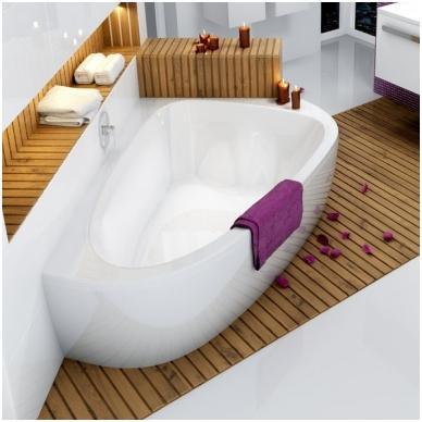 Ravak asimetrinė akrilinė vonia LoveStory II 196x139cm 3
