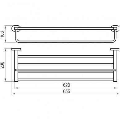 Ravak Chrome rankšluosčių lentynėlė su laikikliu CR 330.00 2