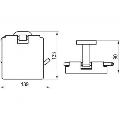 Ravak Chrome tualetinio popieriaus laikiklis CR 400.00 2
