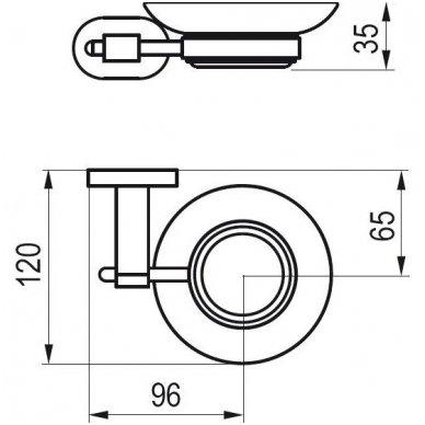 Ravak Chrome laikiklis su muiline (matinis stiklas) CR 200.00 2