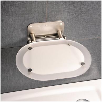 Ravak dušo sėdynė Chrome skaidri/nerūdijančio plieno