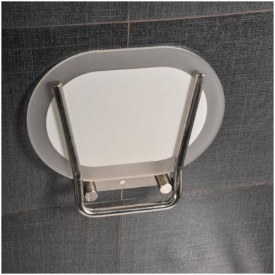 Ravak dušo sėdynė Chrome skaidri/nerūdijančio plieno 2