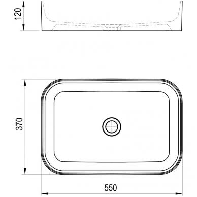 Ravak keraminis praustuvas Ceramic Slim R 55x37cm 4
