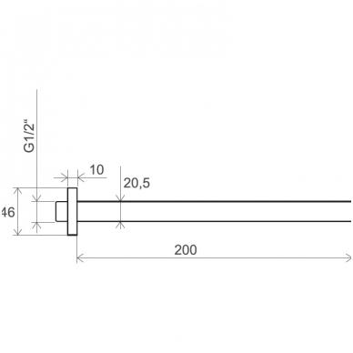 Ravak dušo galvutės išvadas, 20 cm, 703.00 3