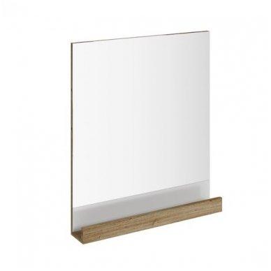 Ravak veidrodis 10° 550 mm su lentynėle, tamsaus riešuto