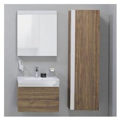 Ravak veidrodis 10° 550 mm su lentynėle, tamsaus riešuto 3