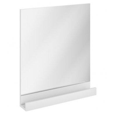 Ravak veidrodis 10° 650 mm su lentynėle, baltas