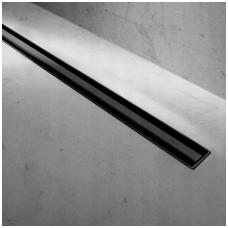 REA juodas dušo latakas Neo SLIM Black Pro 900mm