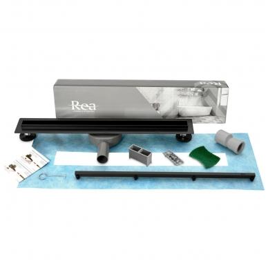 REA juodas dušo latakas Neo SLIM Black Pro 900mm 4