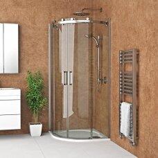 Roltechnik pusapvalė dušo kabina AMR2N/900 brillant/transparent