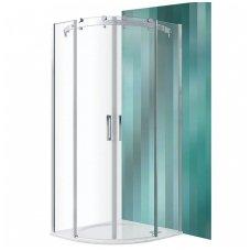 Roltechnik pusapvalė dušo kabina AMR2N/1000 brillant/transparent