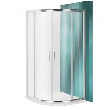 Roltechnik pusapvalė dušo kabina PXR2N/900 brillant/transparent