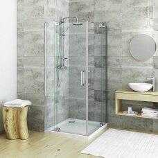 ROTH kvadratinė dušo kabina su atveriamomis durimis GDO1N/1000+GDO1N/1100