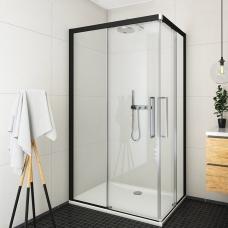ROTH kvadratinė dušo kabina su slankiojančiomis durimis ECS2L/1000+ECS2P/1000