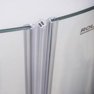 ROTH pusapvalė dušo kabina su atveriamomis durimis GR2N/1000-1100 3