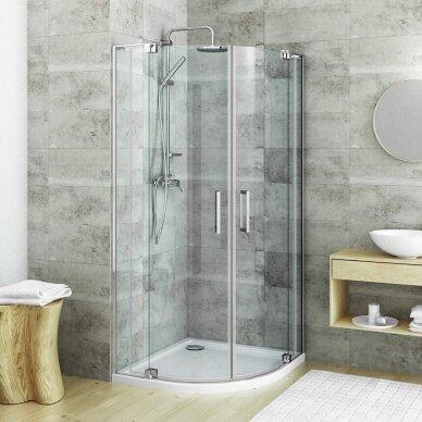 ROTH pusapvalė dušo kabina su atveriamomis durimis GR2N/1000-1100