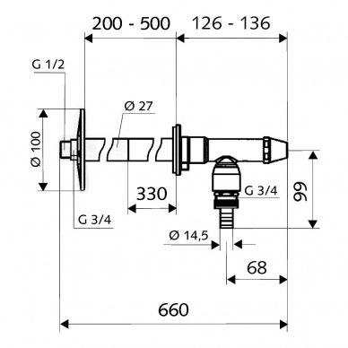 Schell neužšąlantis sodo ventilis Polar2 3
