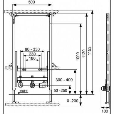 Tece universalus bidė modulis 112cm 9330000 2